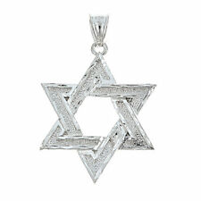 .925 Sterling Silver Classic Star of David Pendant - MADE IN USA (6 grams)
