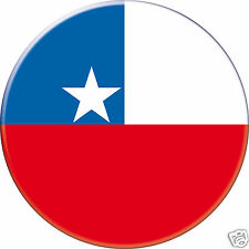5 x sticker 5cm auto moto velo valise pc portable drapeau Rond Chili-Chile