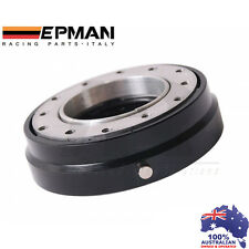 EPMAN RACING THIN QUICK RELEASE SNAP OFF STEERING WHEEL HUB ADAPTER *BLACK*