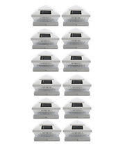 White 6X6 PVC Outdoor Garden Solar Post Deck Cap Square Fence Lights 12-Pack