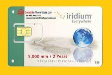 Iridium Prepaid Global Satellite Phone SIM Card - 5000 Minutes, Valid 2 Years