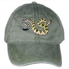 Black-tailed Rattlesnake  Embroidered Cotton Cap NEW Hat Reptile Snake