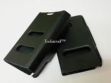 Premium Flip Cover Hard Back Case Caller ID For Samsung Galaxy Note2 N7100 BLK