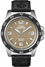 "Timex T49885, Men's ""Expedition"" Black Nylon Watch, Indiglo, Date, T498859J"