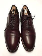 Santoni Dress Shoes Men's Cap-Toe Oxfords Leather Burgundy US Size 11