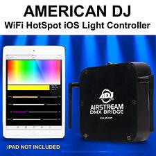 AMERICAN DJ AIRSTREAM BRIDGE DMX WiFi HotSpot iOS APP Controller $20 Instant Off