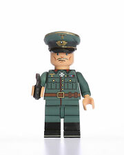 Military Army Minifigure WWII German Officer Custom Soldier Building Minifigure