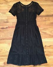 Phoebe Couture NEW Black Lace Corset Style Dress 2 S Steampunk Goth Victorian