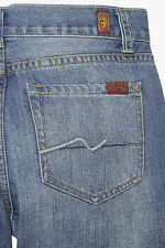 NEW 7 FOR ALL MANKIND BOYS STANDARD CLASSIC STRAIGHT JEANS IN 5 BURROUGH SZ 14