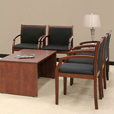 GUEST CHAIRS Side Office Conference Reception Room Chair Cherry or Mahogany Wood