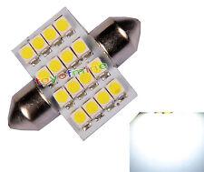 1X White Dome 16 LED 3528 SMD Festoon Interior Bulb Light 31mm DC 12V New