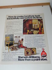 Vintage Ad from Life Magazine 1972: Sherwin-Williams Paint stores