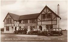 Quinney's Super Cafe Blackpool Road Nr Preston Motor Car unused RP pc 1932 Val