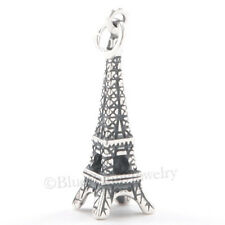 3D EIFFEL TOWER Paris France Travel Pendant Bracelet Charm n 925 Sterling Silver