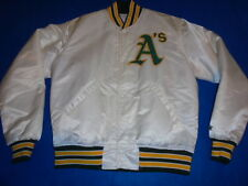 Oakland A's Athletics Vintage Starter White Satin Jacket Medium Mint More Stuff