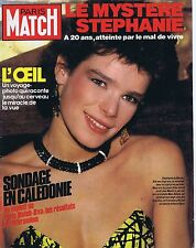 Couverture magazine,Coverage Paris-Match 08/02/85 Stéphanie de Monaco