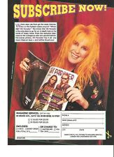 LITA FORD metal reader magazine PHOTO / Pin Up /Poster 11x8""