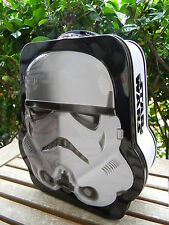 Star Wars Stormtrooper Shaped Embossed Tin Tote Lunch Box Licensed NEW