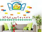 Window Bear Kids Flower WALL STICKERS REMOVABLE HOME DECAL Art Vinyl DECOR