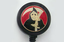 GRIM REAPER GOTH Retractable Reel ID Card Badge Holder/Key Chain Ring EMO