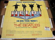 Beatles Help Original 1965 Rare Oversized 6 Sheet 81in x 81in  Movie Poster