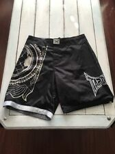 Tapout TAP OUT World Order Fight Board Shorts Mens 34 Black MMA UFC NWT'S