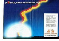 Publicité Advertising 037  1985  Airéléc (2p)  chauffage éléctrique Bienergie