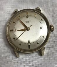 Men's vintage Timex 100 gold tone aluminum mechanical watch *running! 1960s