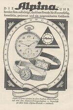 Y6527 ALPINA Uhren -  Pubblicità d'epoca - 1927 Old advertising