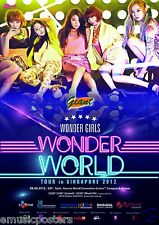 "WONDER GIRLS ""WONDER WORLD TOUR IN SINGAPORE 2012"" CONCERT POSTER - K-Pop Music"