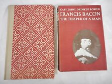 Francis Bacon - 2 books - The Temper of Man and The Essays, Hardcovers