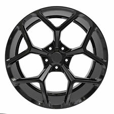 """22"""" Staggered Wheels Fit Chevy Camaro ZL1 Gloss Black Z28 Rims RS SS 2015 Style"""