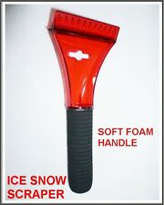 Ice Snow Scrapers Scrapper Cleaner Soft Foam Handle Home Car Van Windscreen RED