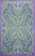 Kaleidoscope Paisley Indian Throw Tablecloth Cotton Spread Twin 60x90 Gorgeous