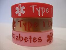 Kid Medical Alert bracelet for small thin child Type 1 Diabetes 2 FREE TATTOOS