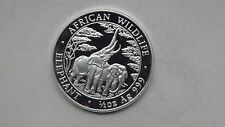 2003 Zambia 2000 Kwacha Elephant Silver Proof coin