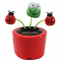 Dancing Frog Ladybugs Solar Toy US Seller Office Home Decor Christmas Gift