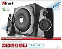 TRUST 19020 2.1 TYTAN 120W PMPO 60W RMS SPEAKER SET + SUB WOOFER, POWERFUL SOUND
