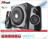 TRUST 19020 2.1 TYTAN 120W PMPO 60W RMS SPEAKER SET + SUB WOOFER, POWERFUL SOUND