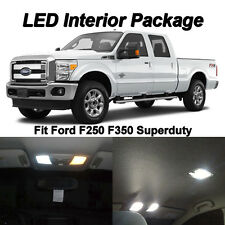 16 x Xenon White SMD LED Interior + Tag Lights Kit For 1999-2016 Ford F250 F350