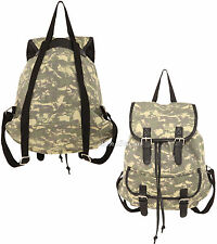 NEW CAMO CAMOUFLAGE SKULLS Slouch Buckle Book Bag Backpack for School Hot Topic