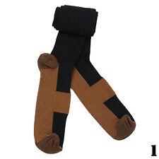 Copper Anti-Fatigue Calf Support Flight Varicose Relief Knee High Socks New