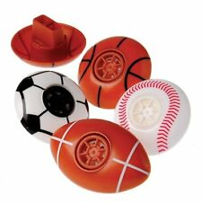 12  Sports Whistle Party Favors Team Sport Basketball Soccer Football Baseball