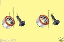 2 Optimal Left+Right axle Rear Wheel Bearing Kit Set for Audi for Volkswagen VW