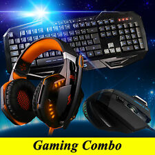 ARES K3 3 Illuminated Gaming Keyboard G2000 Orange Headset 3200DPI Mouse Combo