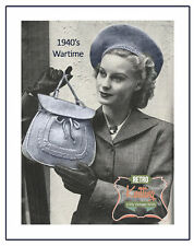 Beret and Bag 1940s Vintage Knitting Pattern