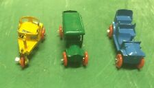 3 Vintage Diecast Cars Maker Unknown Cars Models Of Very Early Cars