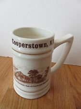 """Vintage NATIONAL BASEBALL HALL OF FAME AND MUSEUM Cooperstown NY 6"""" Ceramic Mug"""