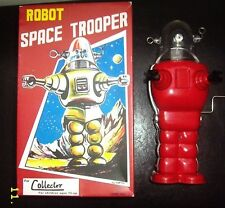 Robby the Robot Space Trooper by TINTOM TOY version Toy Windup red MINT IN BOX!