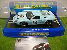 Voiture SLOT FORD GT40 #12 LE MANS 1966 Bleu au 1/32 SCALEXTRIC C3533 SLOT